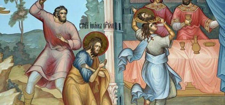 УСЕКНОВЕНИЕ ГЛАВЫ ПРОРОКА, ПРЕДТЕЧИ И КРЕСТИТЕЛЯ ГОСПОДНЯ ИОАННА.
